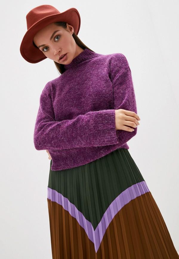 женский свитер ichi, фиолетовый