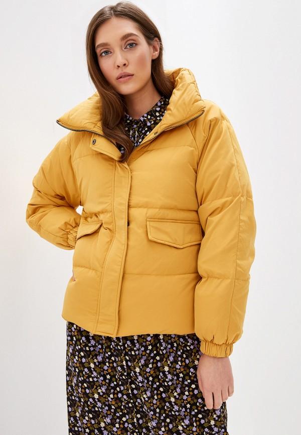 женская куртка ichi, желтая