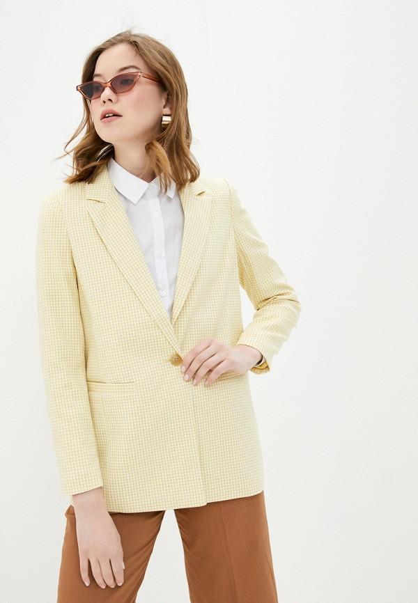 женский пиджак ichi, желтый