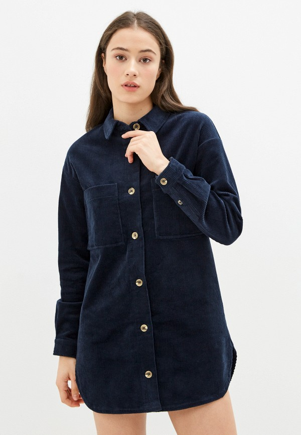 женское платье ichi, синее