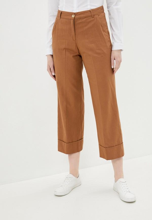 женские повседневные брюки ichi, коричневые