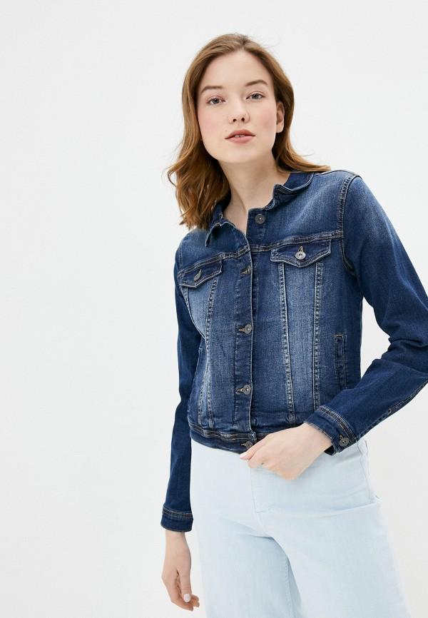 женская джинсовые куртка ichi, синяя