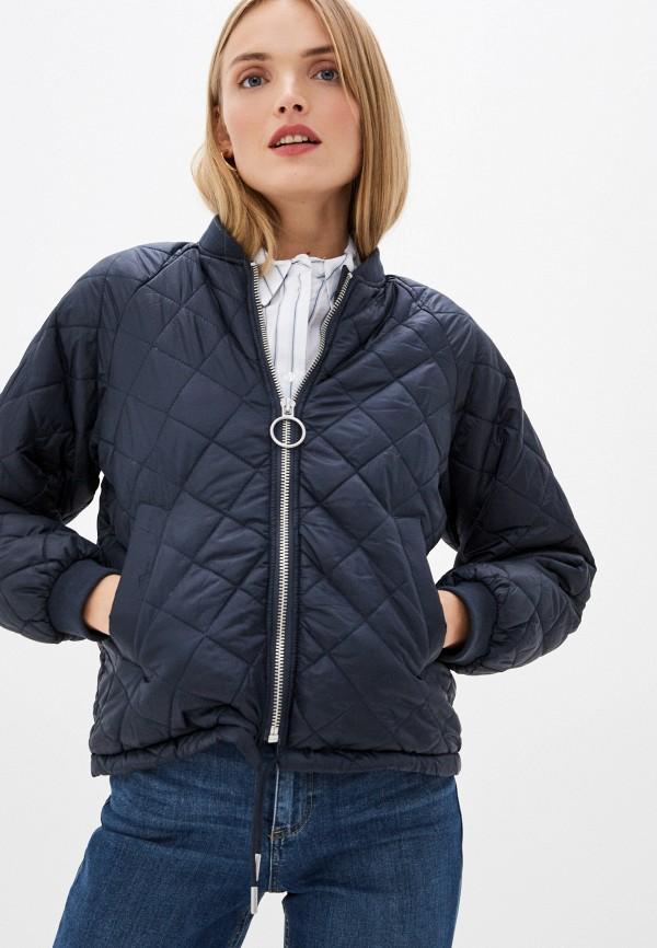 женская куртка ichi, синяя