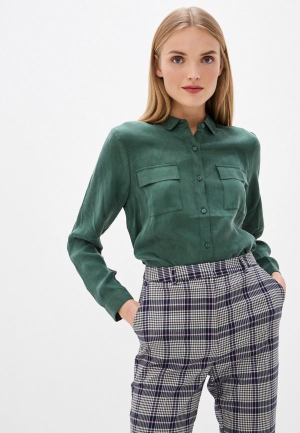 женская рубашка с длинным рукавом ichi, зеленая