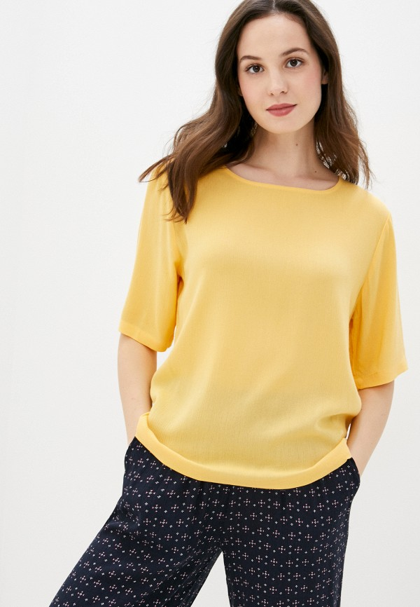 женская блузка ichi, желтая