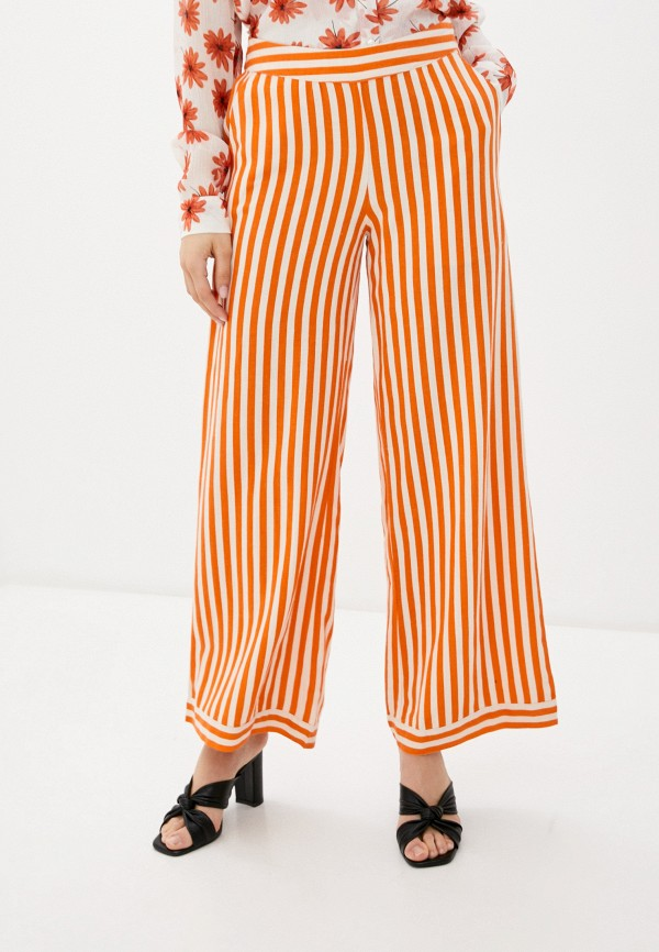 женские повседневные брюки ichi, оранжевые