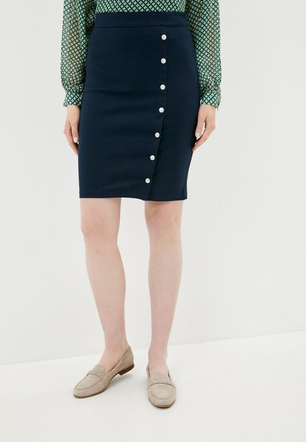женская прямые юбка ichi, синяя