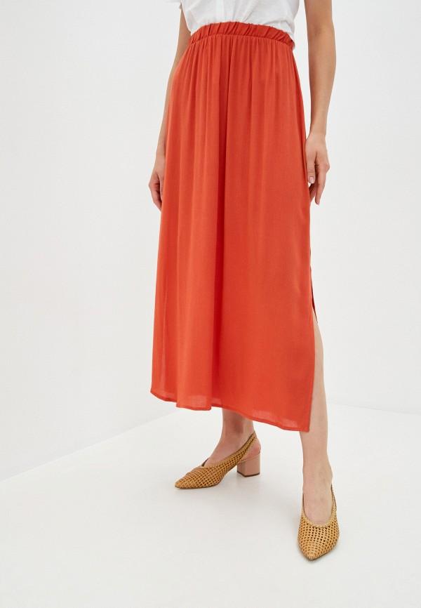 женская прямые юбка ichi, красная