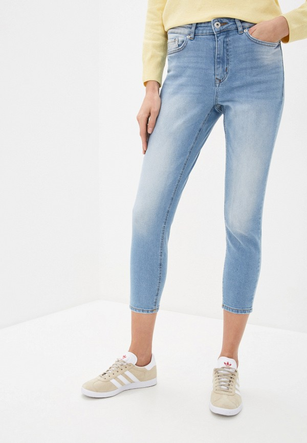 женские джинсы ichi, голубые