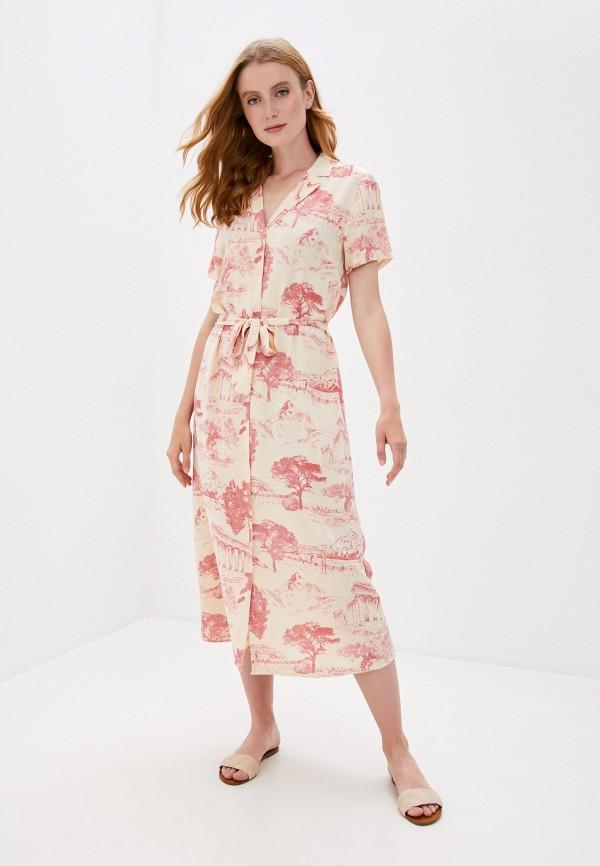 женское платье ichi, бежевое