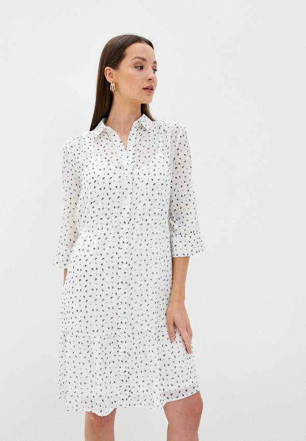 женское повседневные платье ichi, белое