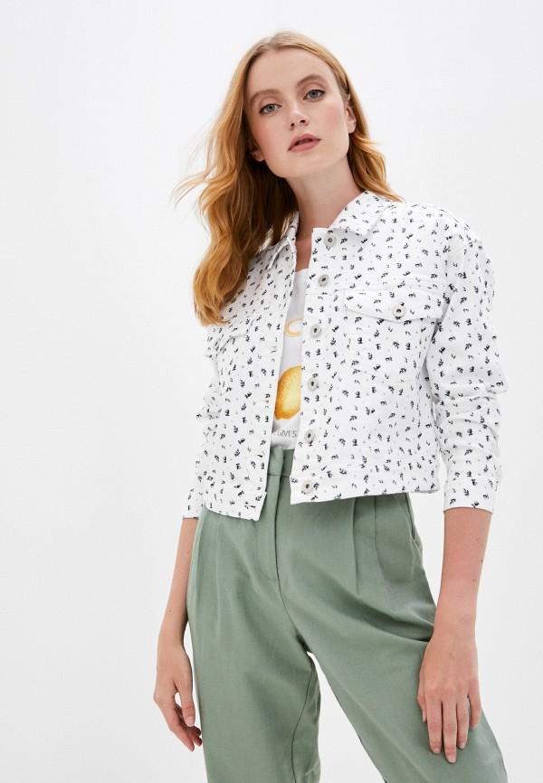 женская джинсовые куртка ichi, белая