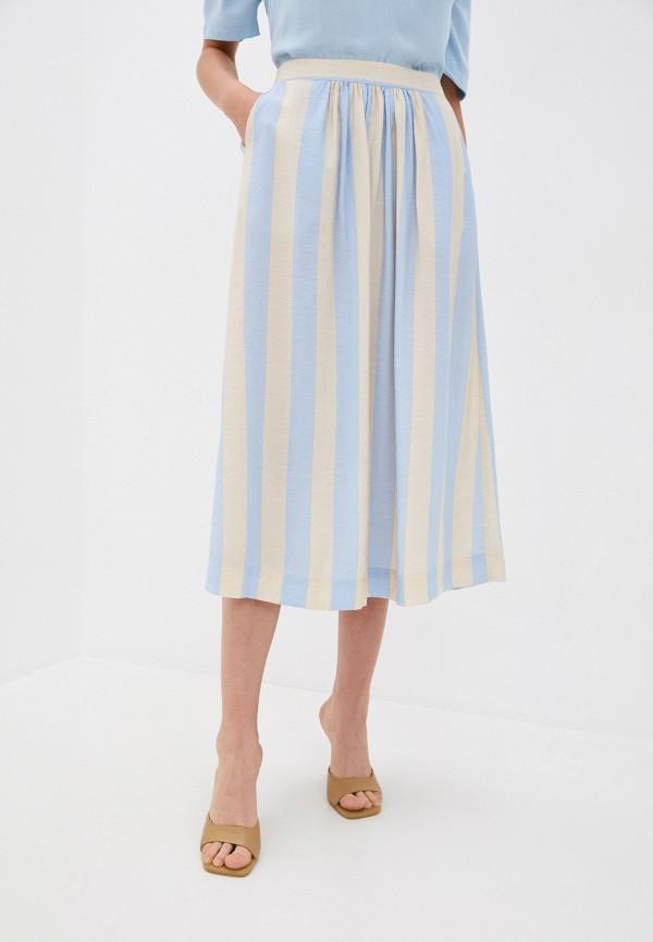 женская юбка ichi, голубая