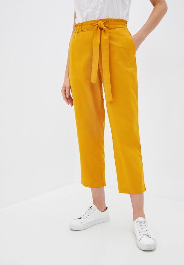 женские повседневные брюки ichi, желтые