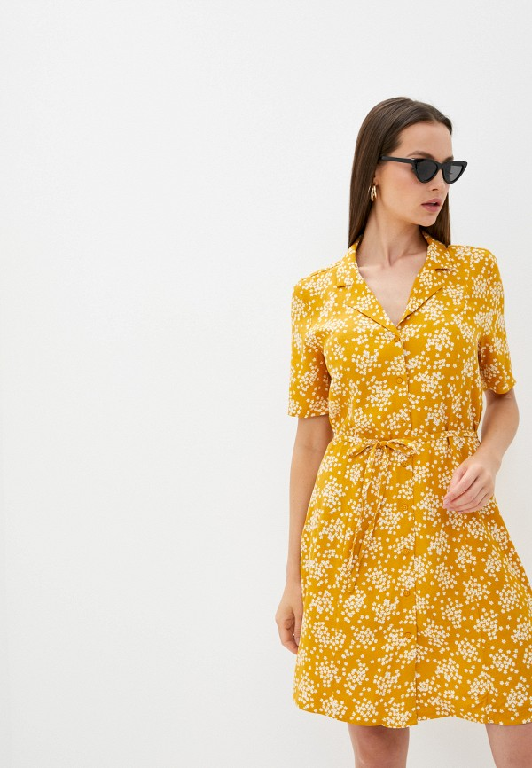 женское повседневные платье ichi, желтое