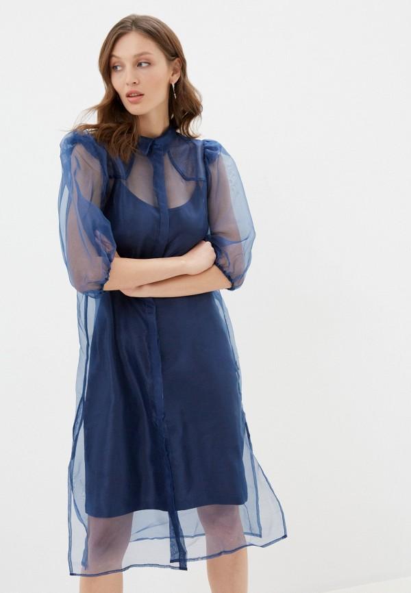 женское вечерние платье ichi, синее