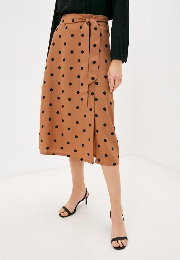 женская юбка ichi, коричневая