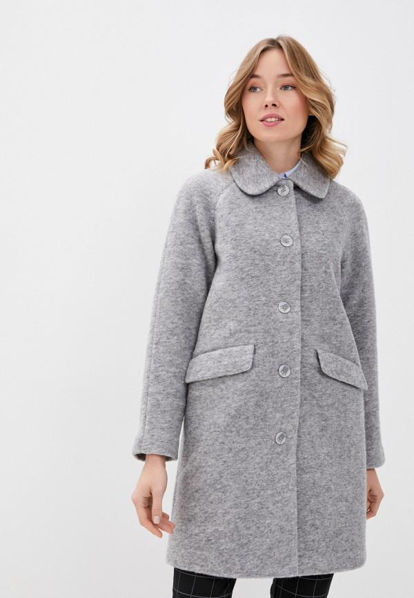 женское пальто ichi, серое