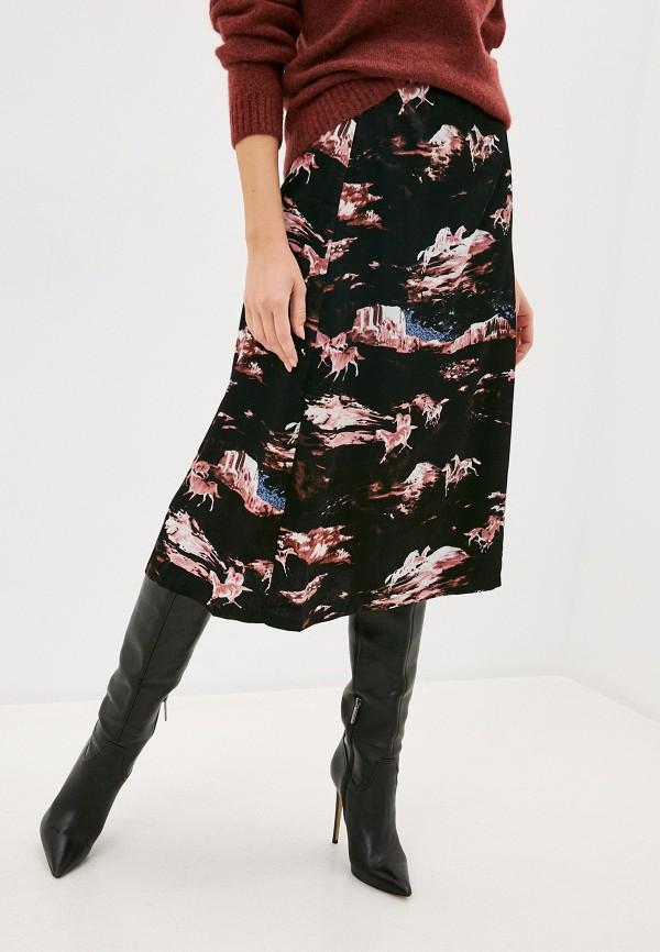 женская прямые юбка ichi, черная