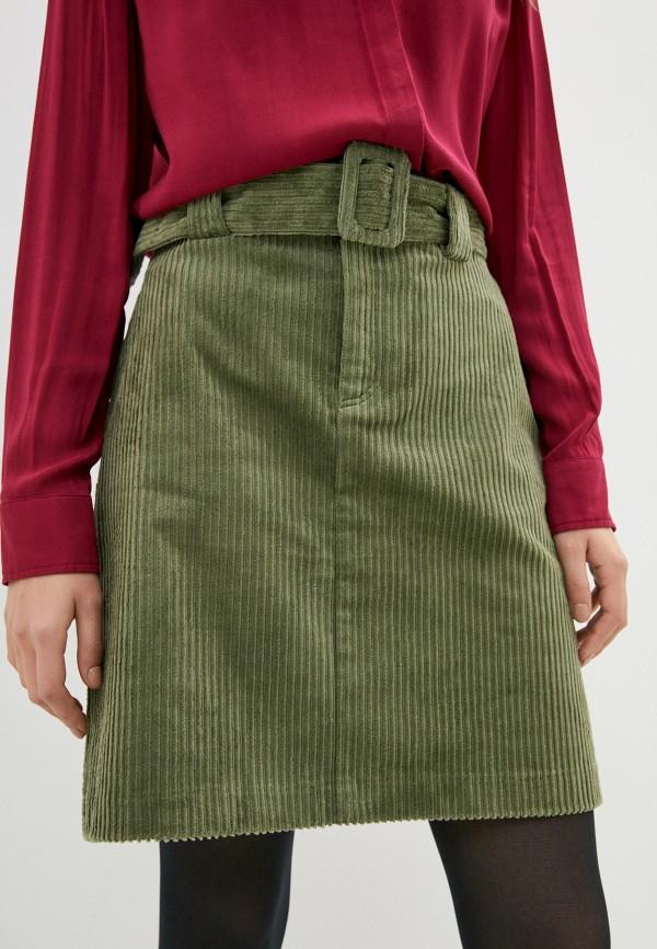 женская прямые юбка ichi, зеленая