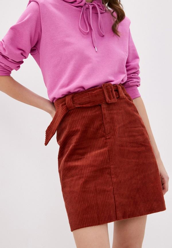 женская прямые юбка ichi, коричневая