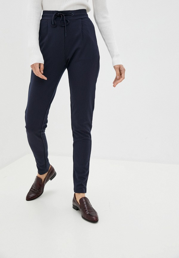 женские повседневные брюки ichi, синие