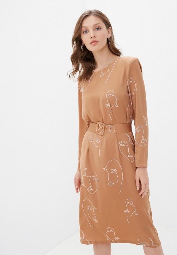 женское повседневные платье ichi, бежевое