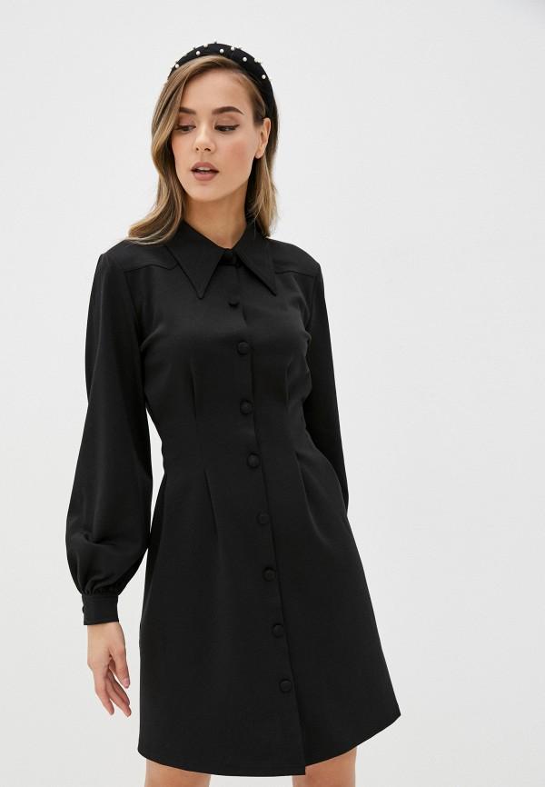 женское платье ichi, черное