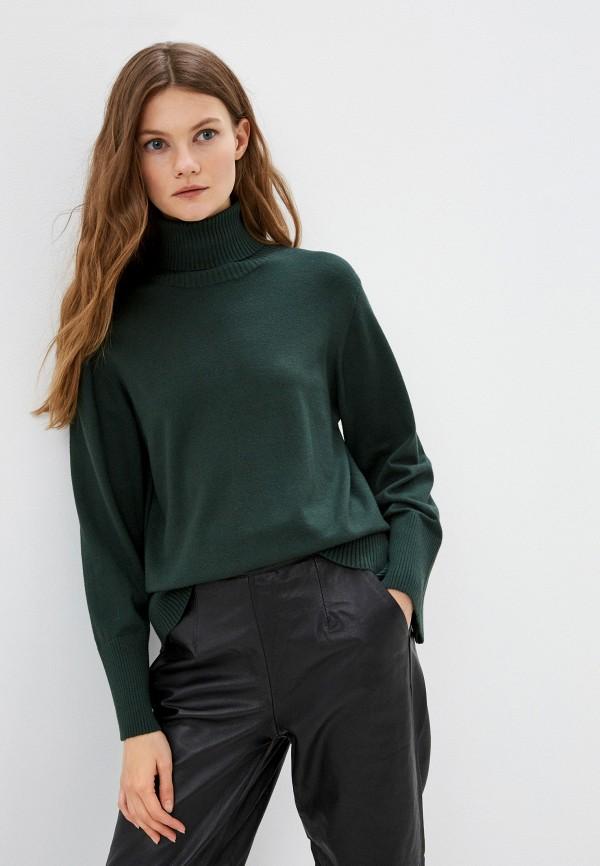 женская водолазка ichi, зеленая