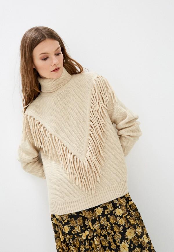 женский свитер ichi, бежевый