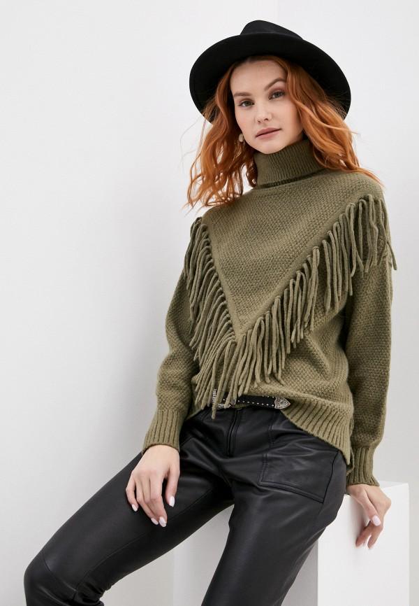 женский свитер ichi, хаки