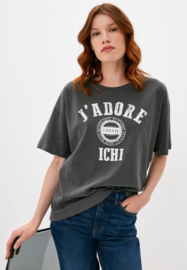 женская футболка ichi, серая