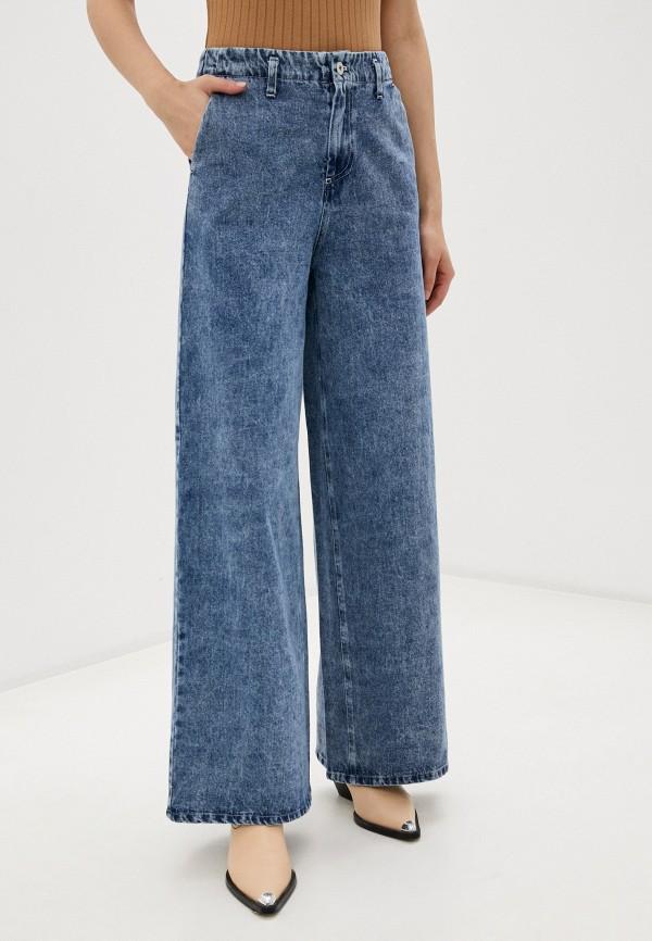 женские джинсы клеш ichi, голубые