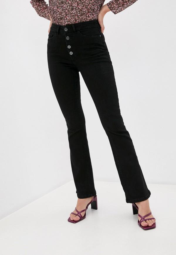 женские джинсы клеш ichi, черные