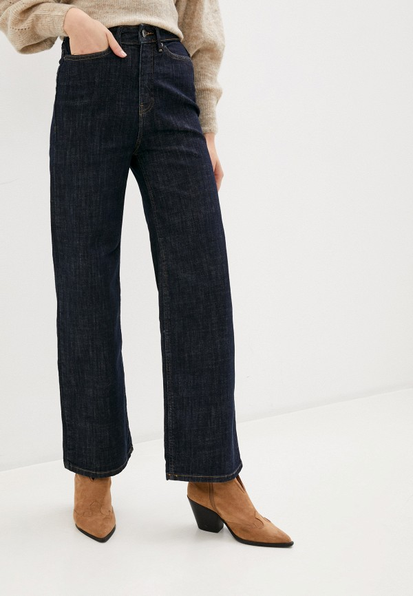 женские джинсы клеш ichi, синие