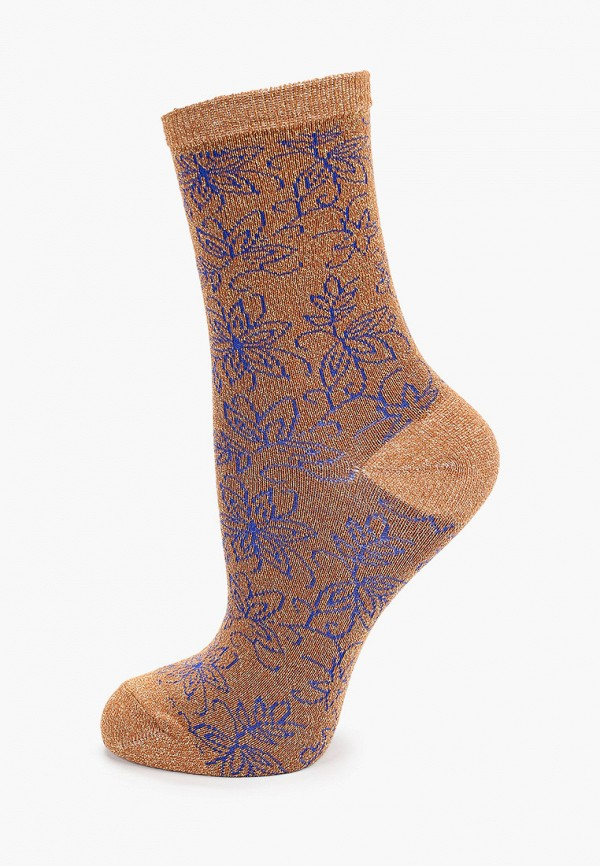 женские носки ichi, коричневые