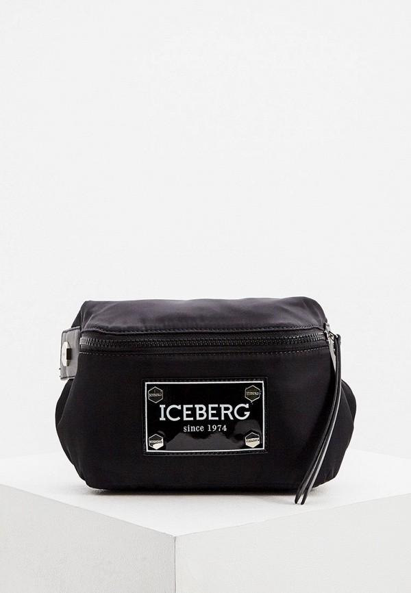 мужская поясные сумка iceberg, черная
