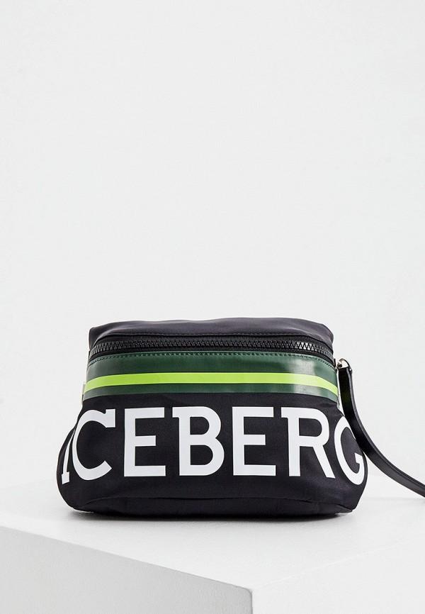 мужская сумка iceberg, черная