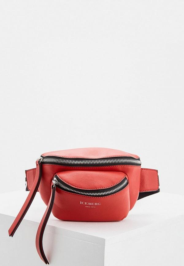 женская сумка iceberg, красная