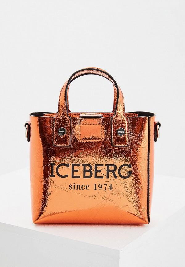 женская сумка iceberg, оранжевая