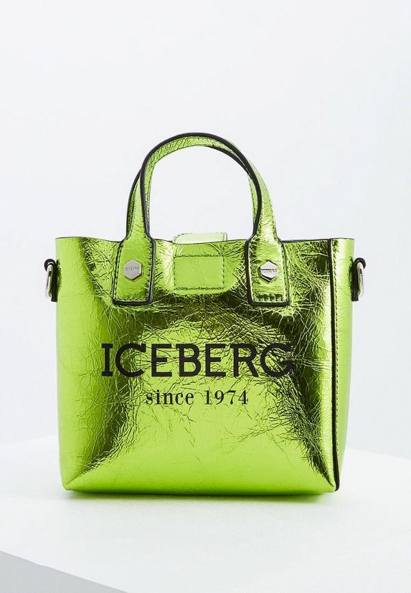 женская сумка iceberg, зеленая