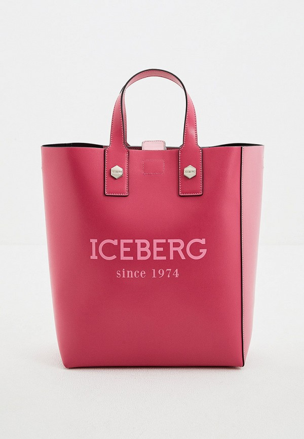 женская сумка с ручками iceberg, розовая
