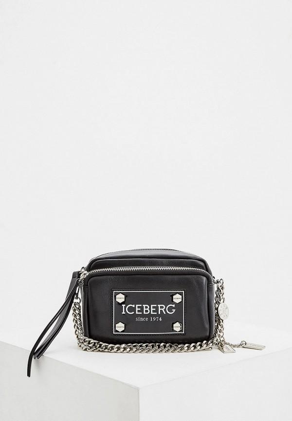 женская поясные сумка iceberg, черная