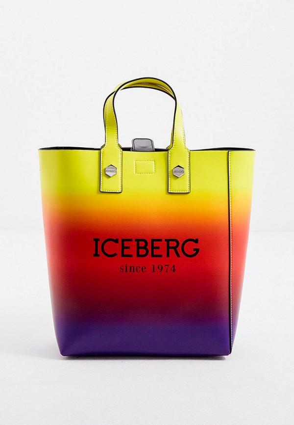 женская сумка iceberg, разноцветная