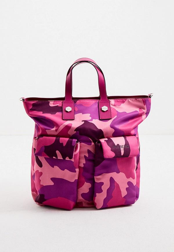 женская сумка iceberg, розовая