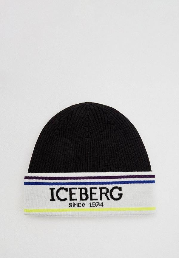 мужская шапка iceberg, черная