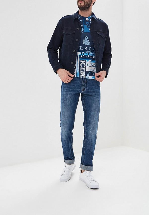 Фото 2 - мужские джинсы Iceberg голубого цвета