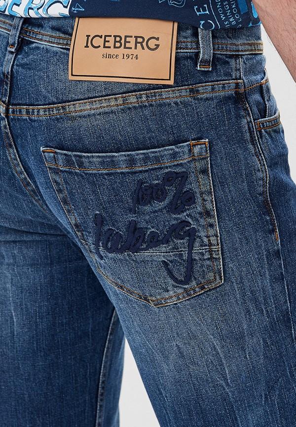 Фото 4 - мужские джинсы Iceberg голубого цвета