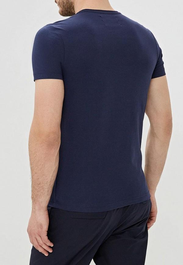 Фото 3 - мужскую футболку Iceberg синего цвета