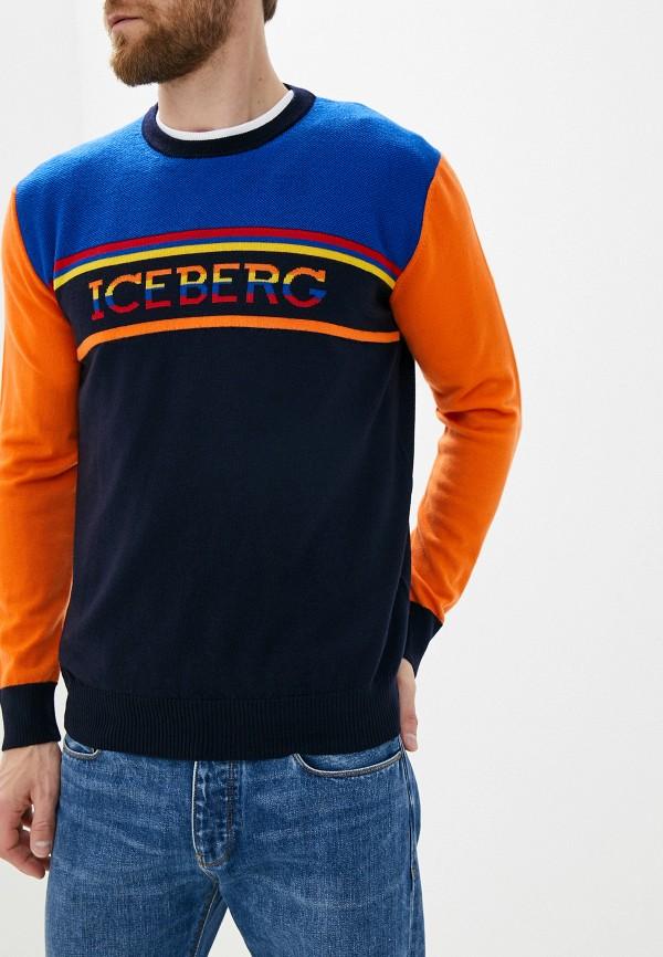 мужской джемпер iceberg, разноцветный